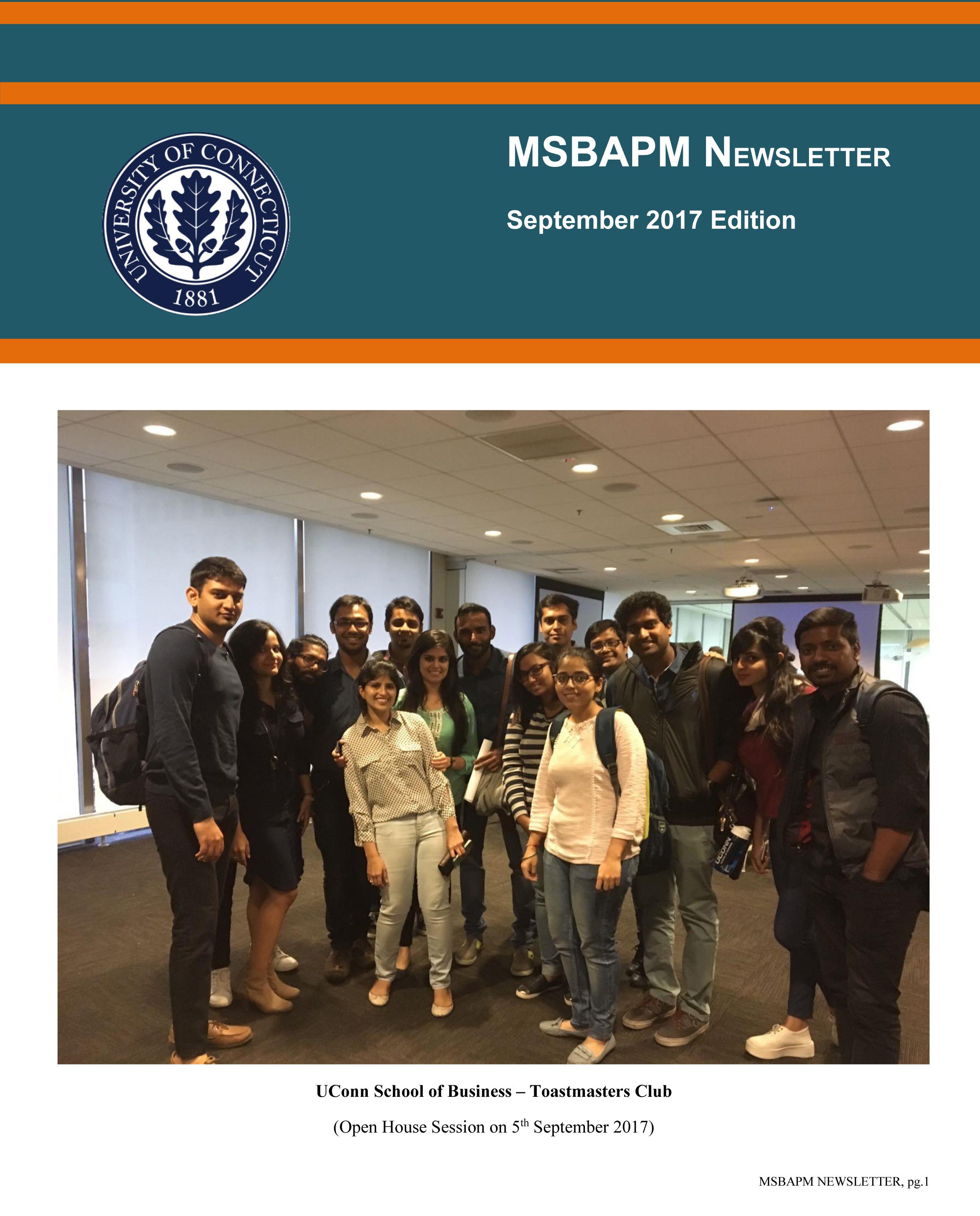 MSBAPM August 2017 Newsletter