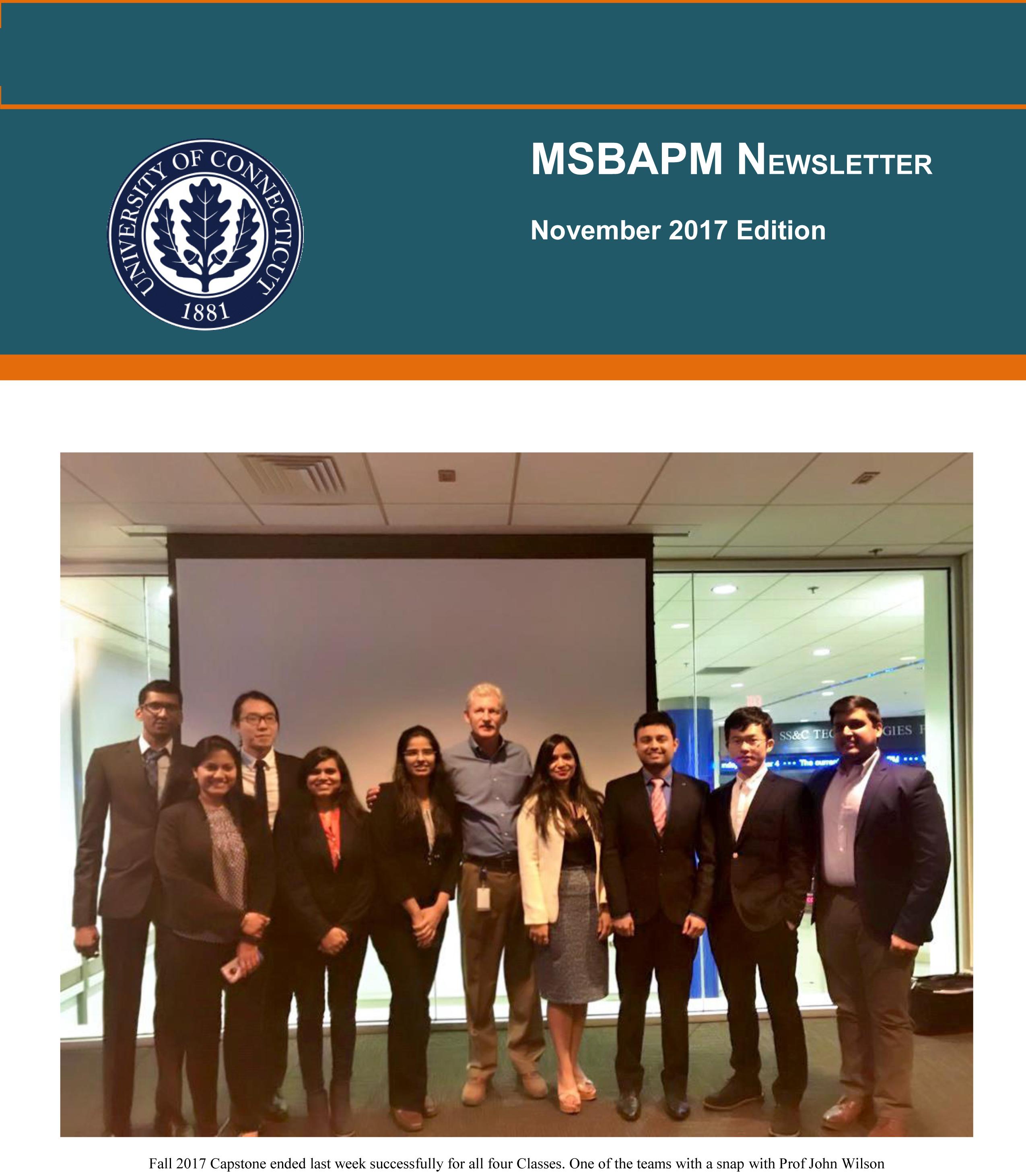 MSBAPM November 2017 Newsletter