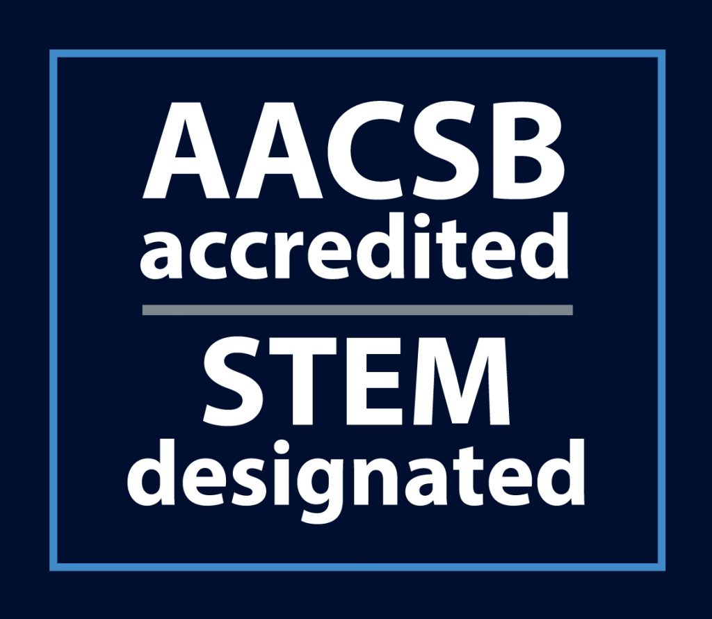 AACSB accredited, STEM designated